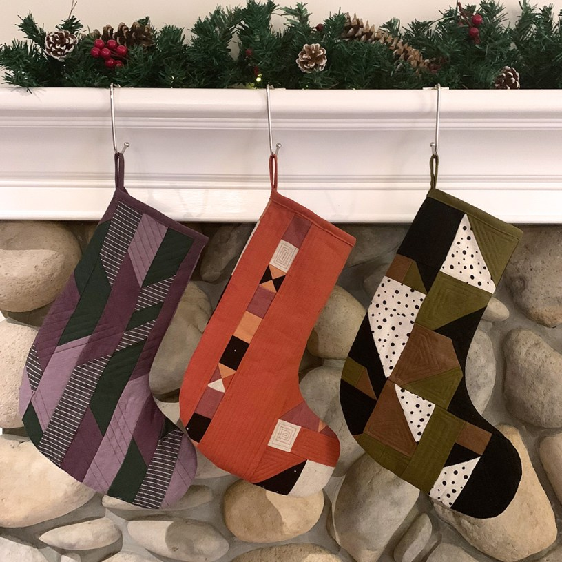 Fabric Scraps Quilted Stockings DIY