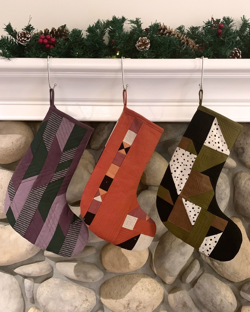 DIY Quilted Stockings using Fabric Scraps