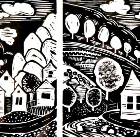 Walhalla Linocut sold out