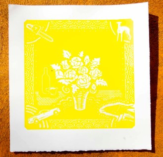 1st colour yellow reduction Print