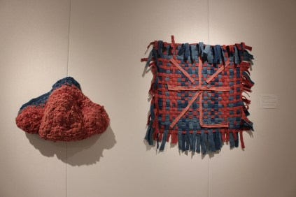 'Light' Lan Luo - Wool felt dyed with cochineal, madder, black beans, and indigo
