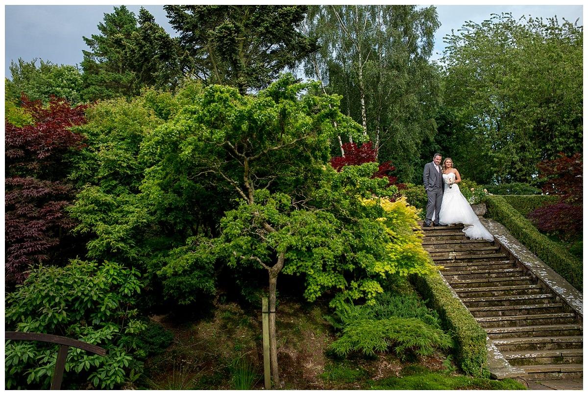 The Upper House Barlaston Wedding Bride and Groom