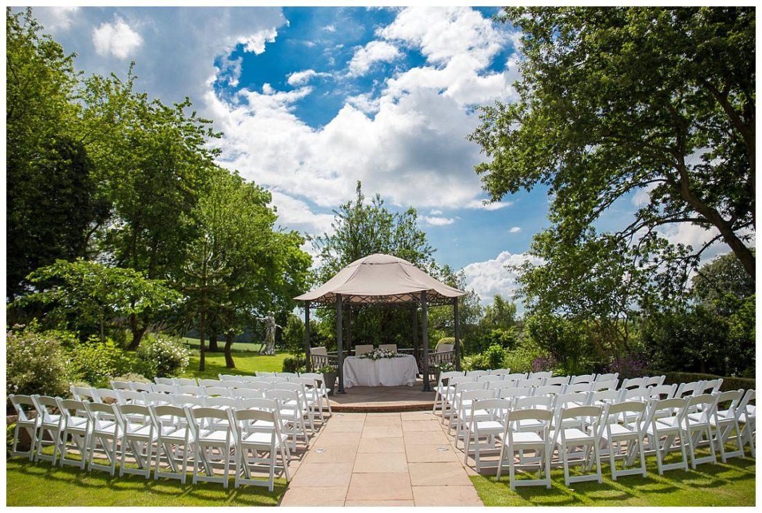 Upper House Barlaston Outdoor Wedding