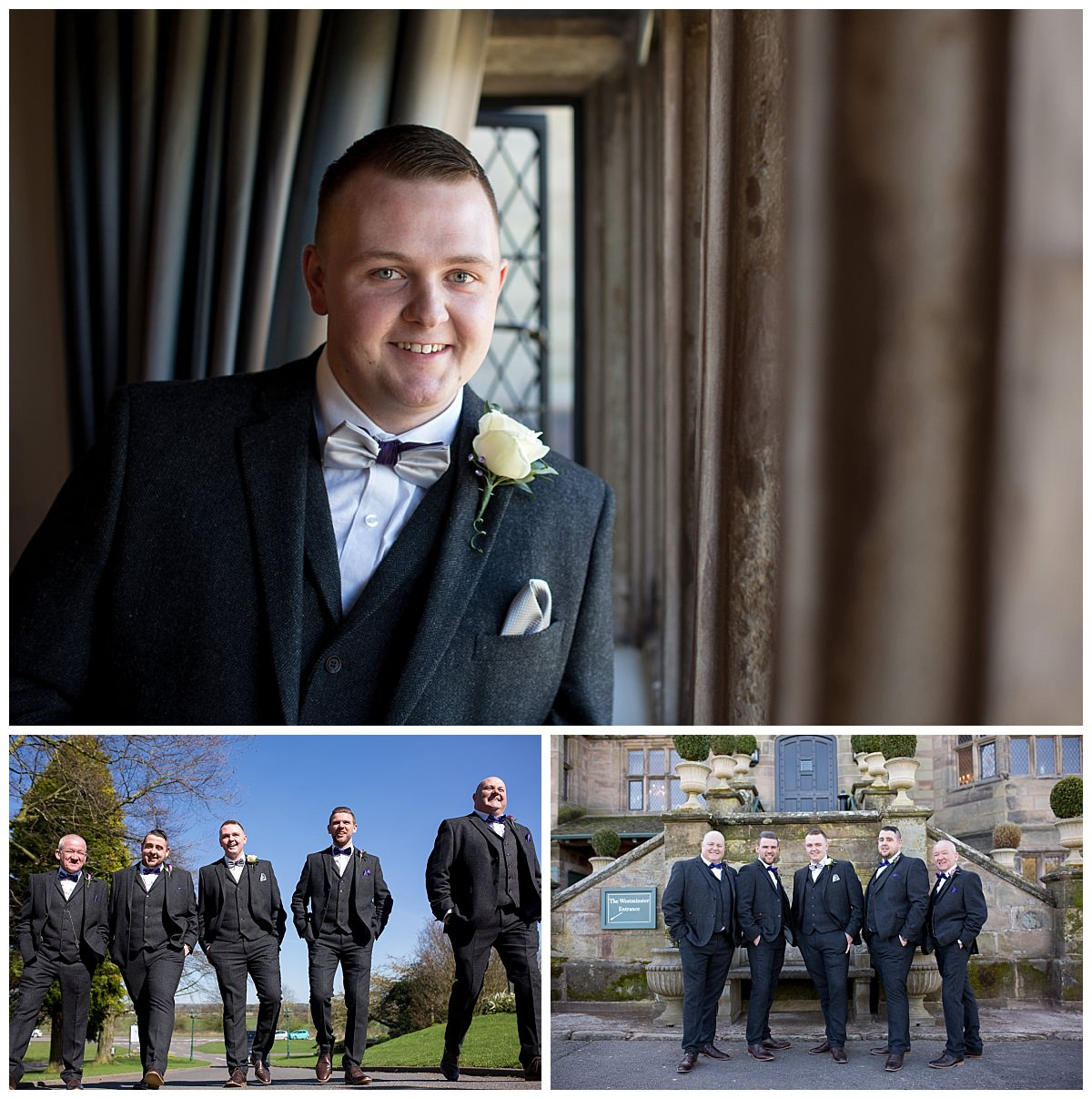 Groomsmen Portraits at Weston Hall