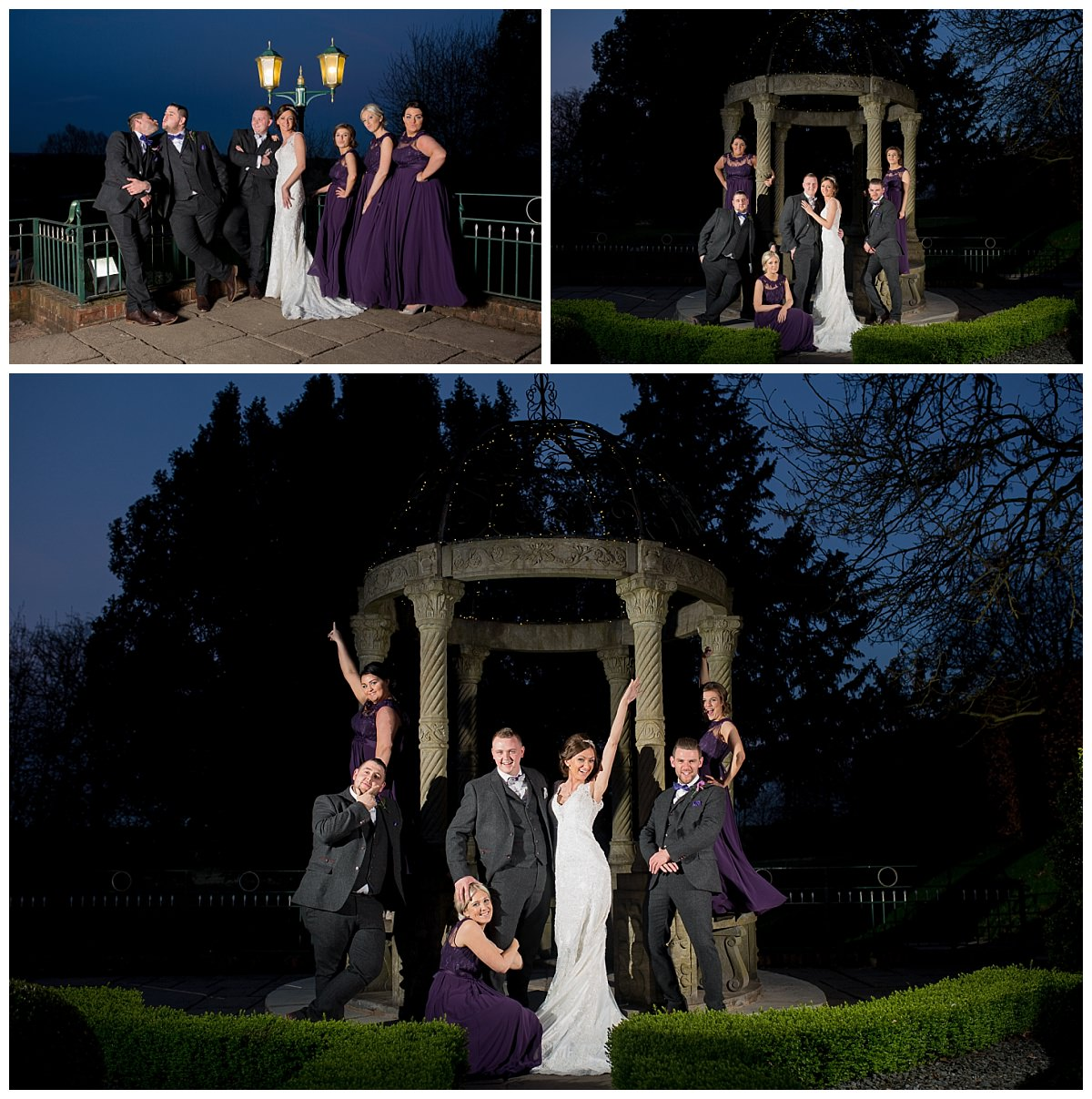Bridal Party After Dark at Weston Hall