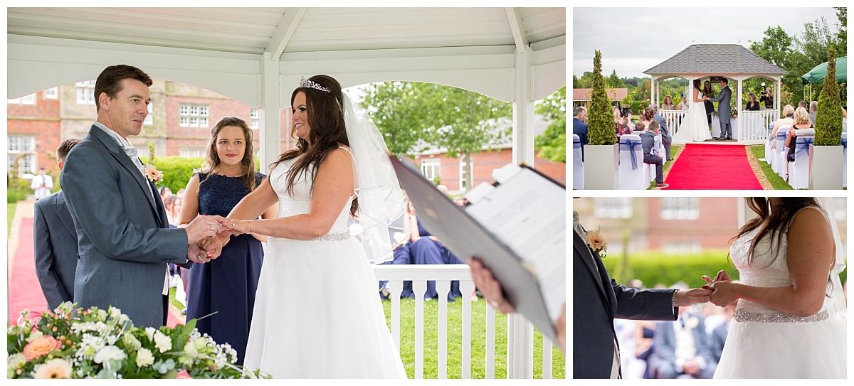 Outdoor Wedding Ceremony Cranage Hall