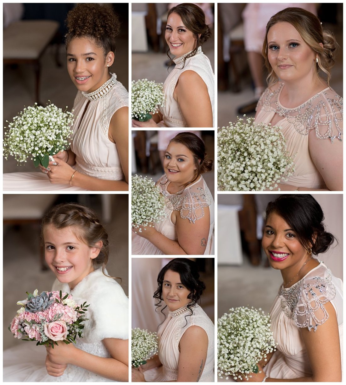 Bridesmaids portraits at Iscoyd Park