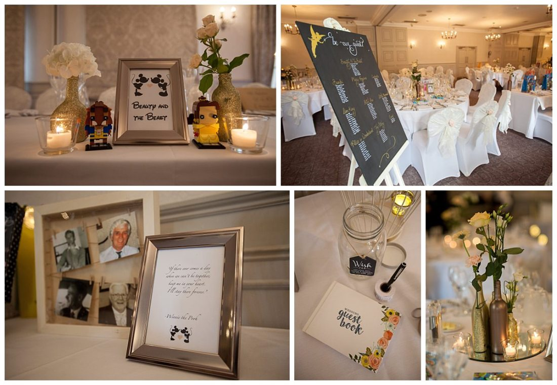 beauty and the beast wedding details