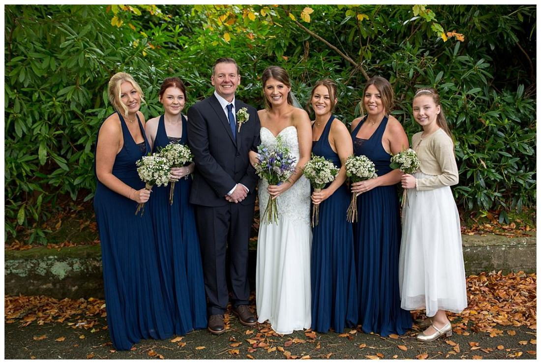 Bride and bridesmaids at The Raithwaite Estate