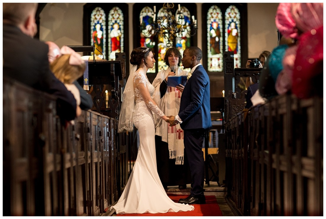 Wedding at St Oswald's Church Lower Peover