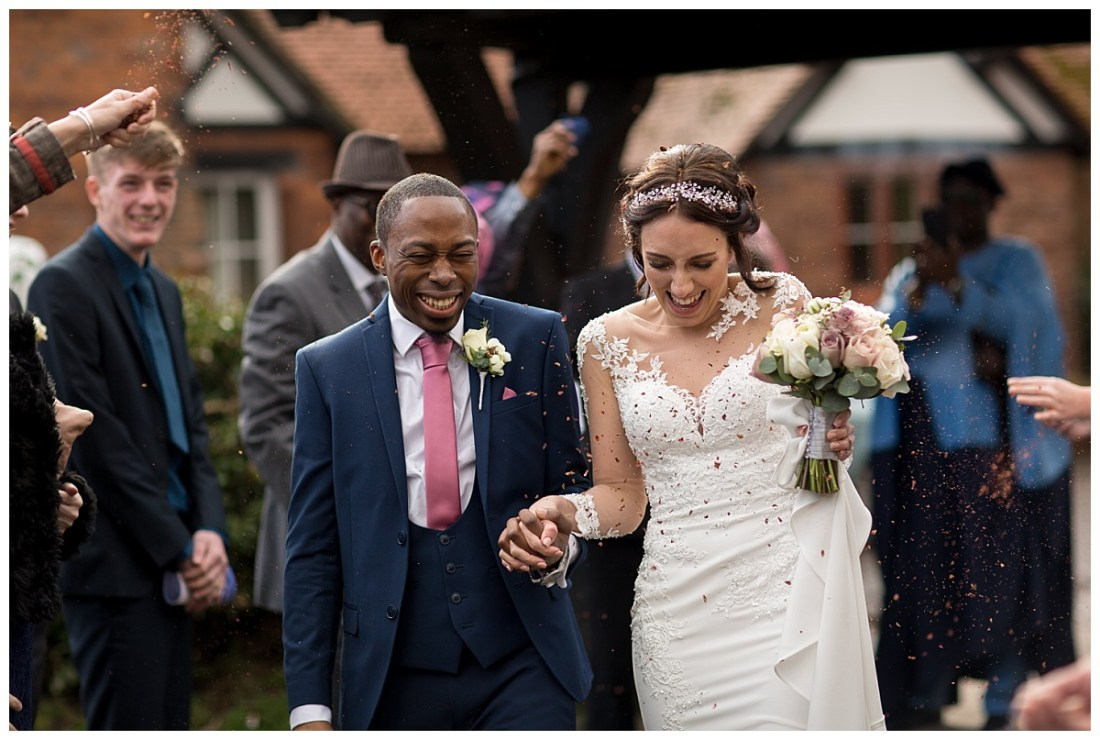 Confetti at St Oswald's Church