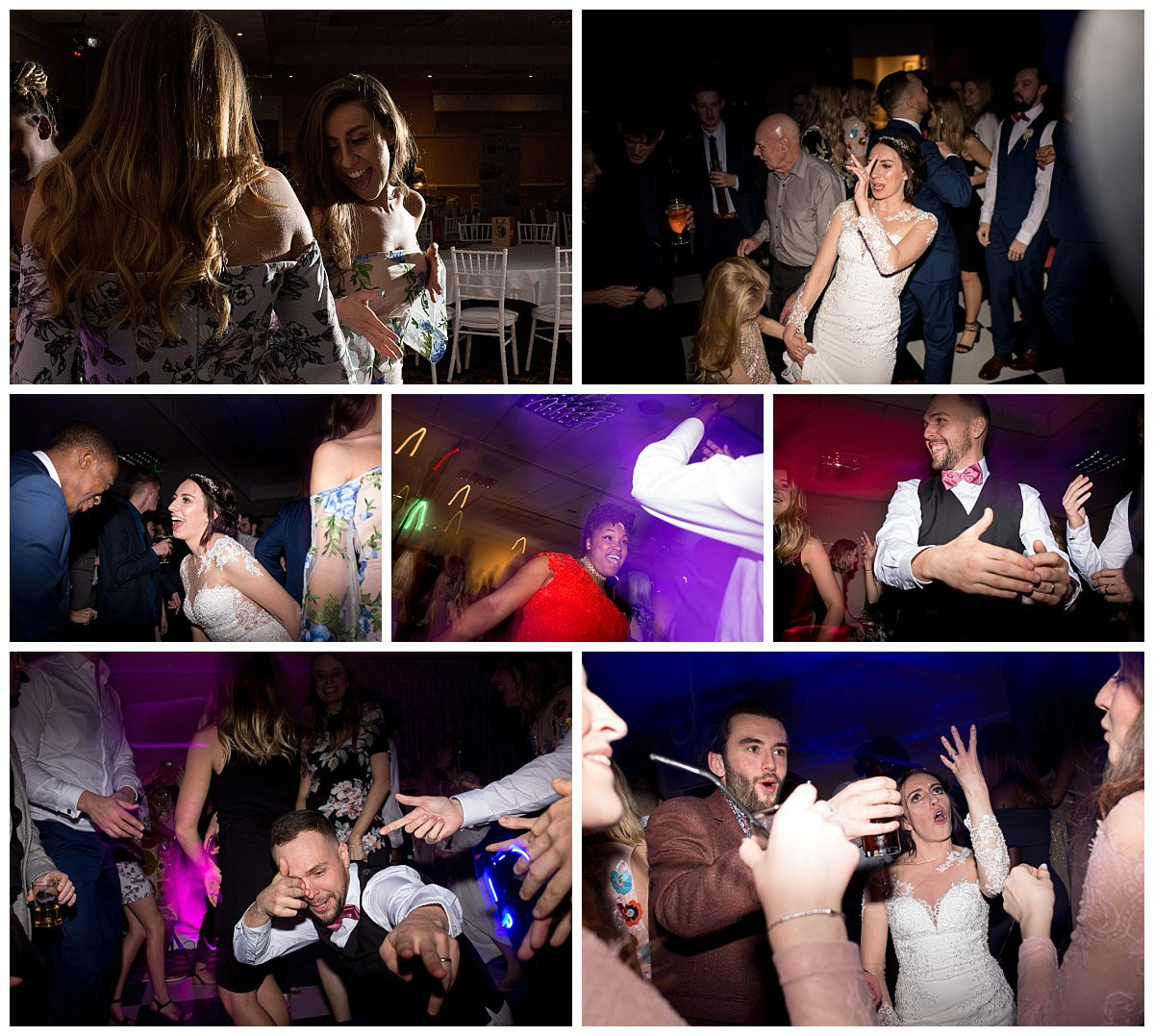 Wedding party at Cranage Hall