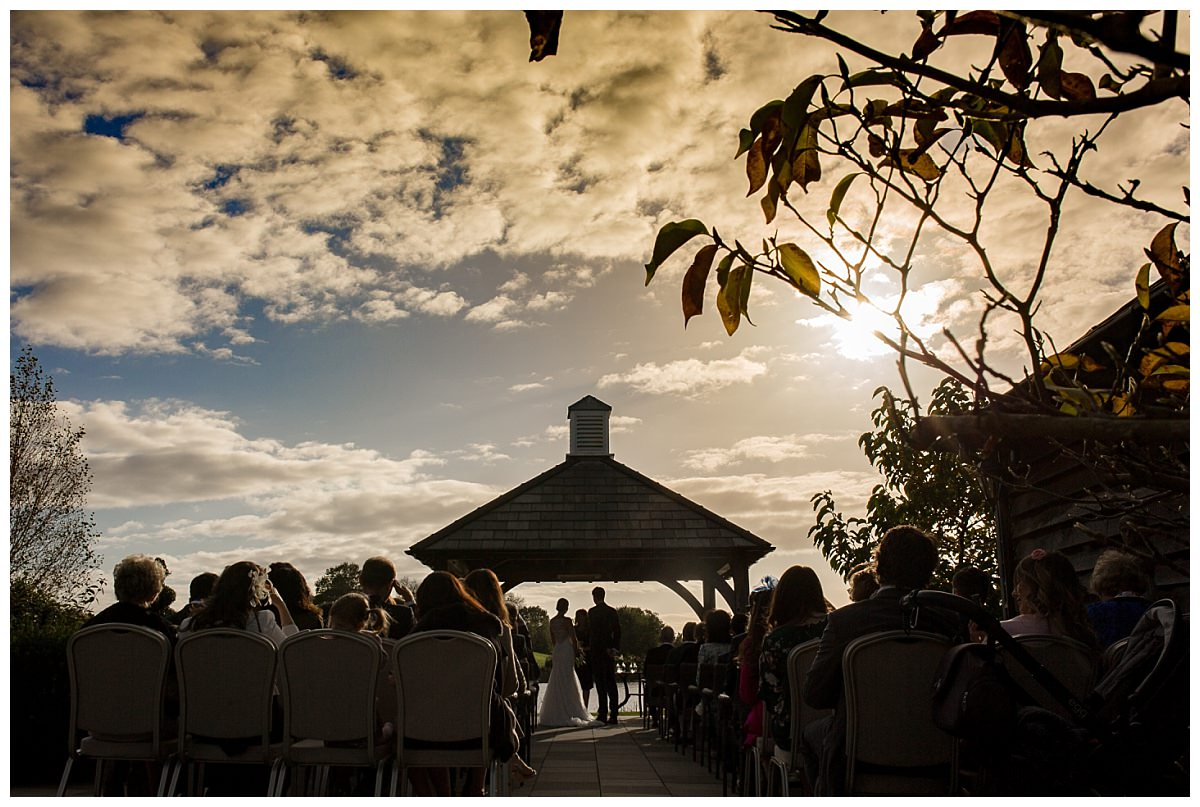 Outdoor ceremony at Sandhole Oak Barn