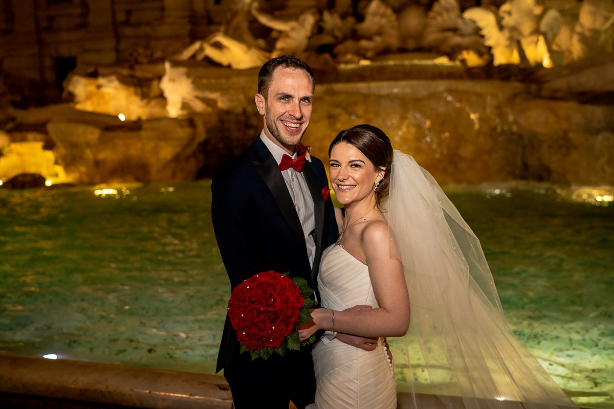 Trevi Fountain Rome Wedding Photos