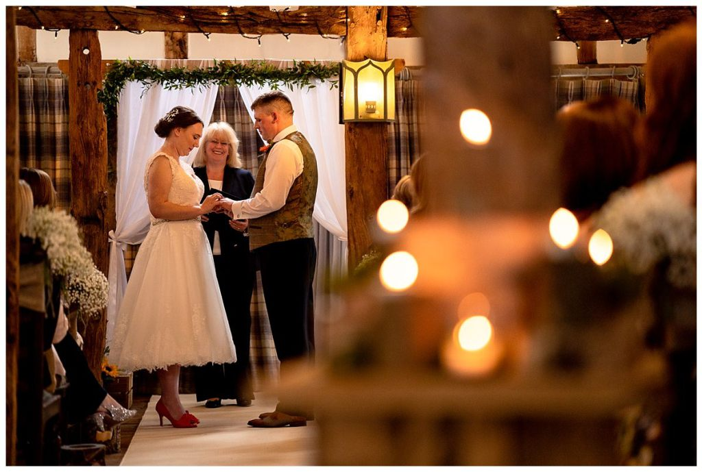 Wedding ceremony at The Plough Inn Eaton