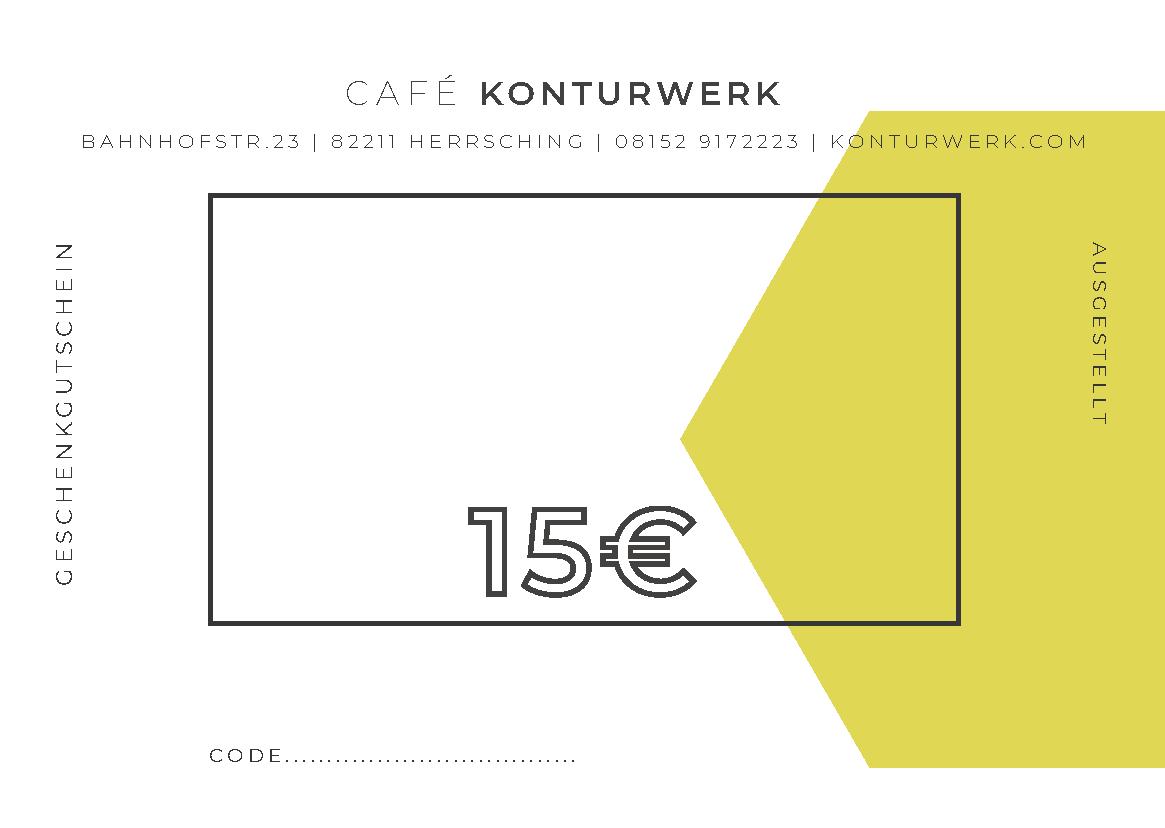 Gutschein Konturwerk 15EUR