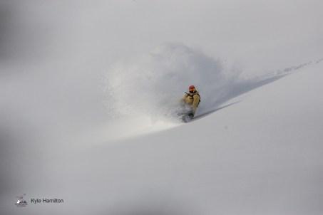 "Adam ""Larry"" Elliott bombing a sweet run at Great Canadian Heliskiing / Photo: Kyle Hamilton"