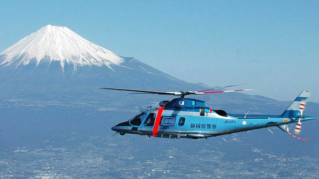 Helicopter tour of Mt Fuji