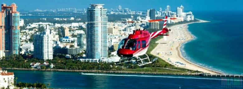 Helicopter tour of Miami beach