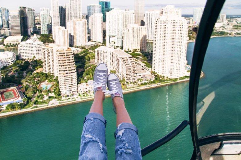 Open door helicopter tour of Miami