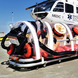 Corona Isolator Unit helicopter EC135 ambulance