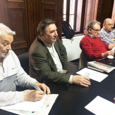 Din plan apropiat spre plan depărtat: Tudor Beșuan, Cornel Secu, Lucian Vasile Szabo și Daniel Timariu