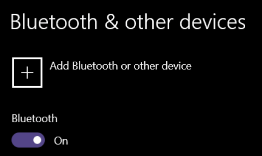 Go here to add a Bluetooth device.