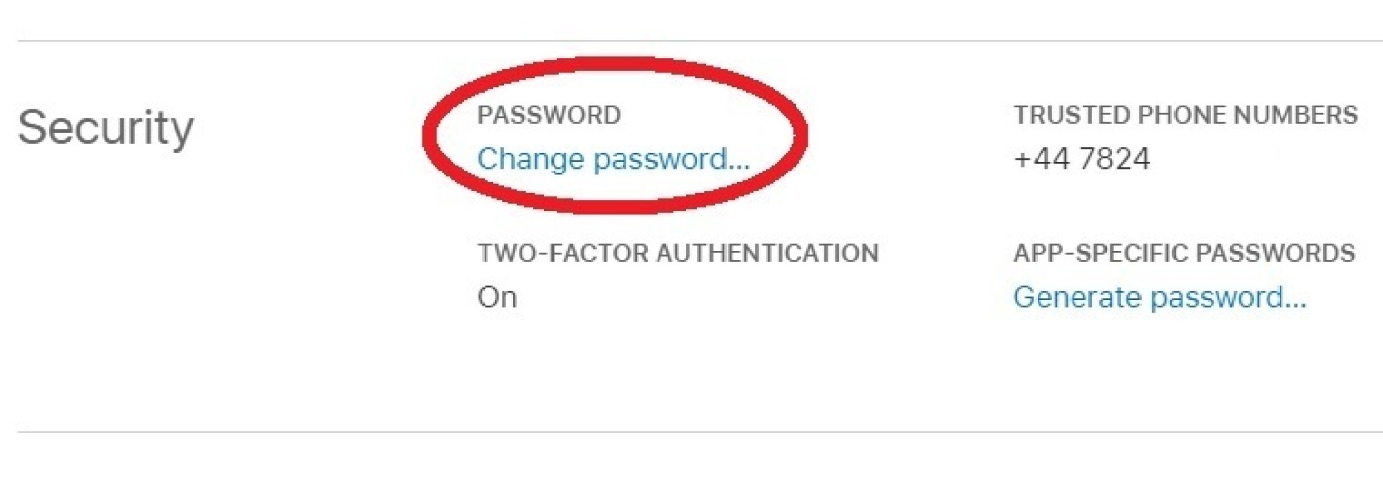 Don't forget to enable two-factor authentication while you're here.