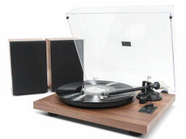 mbeat® MB-PT-28 Bluetooth Hi-Fi Turntable with Speakers — $299.99