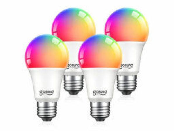 GoSund 75W LED Smart RGB Color Changing Light Bulbs — $13.99