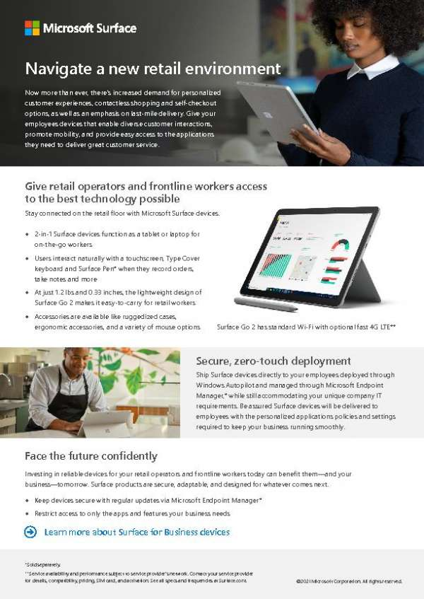 Navigate a New Retail Environment with Surface