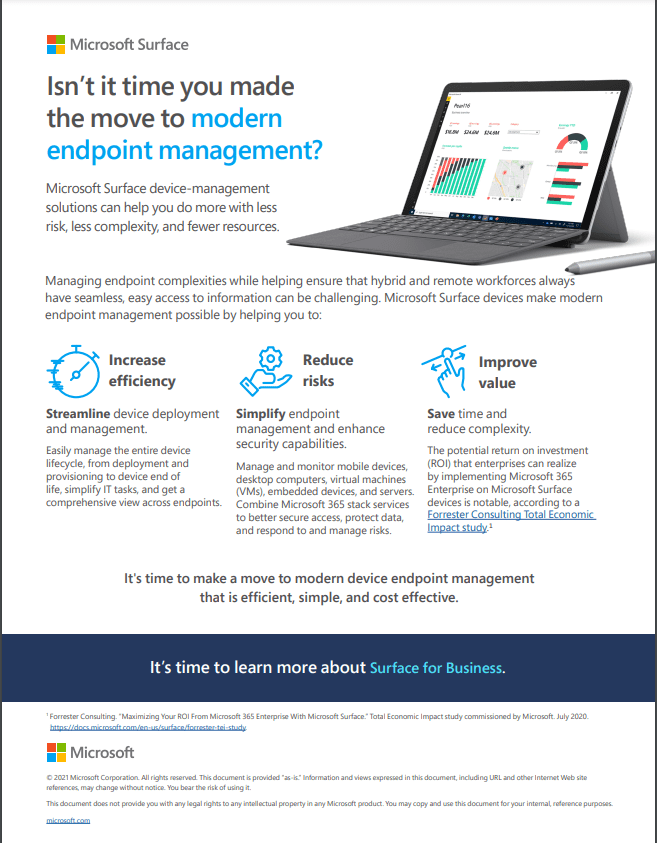 Modern Endpoint Management with Surface