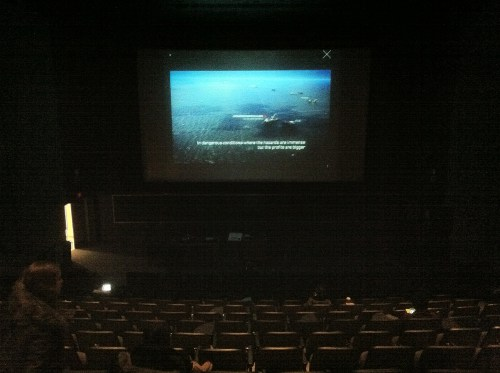 Testing installation at York University's Price Theatre