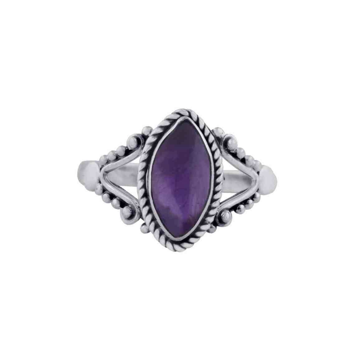 Calida Silver Amethyst Ring