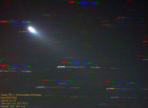 Εικόνα του 73P/Schwassmann-Wachmann-3 (κομμάτι C) στις 5 Μαΐου 2006, από τον Δημήτρη Κολοβό.
