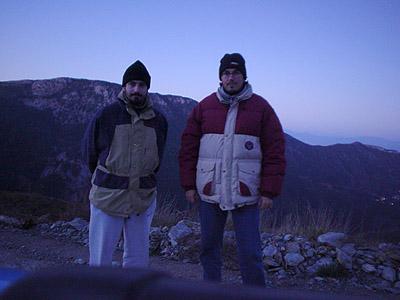 Οι παρατηρητές, από αριστερά Μαραβέλιας Γρηγόρης και Γεωργόπουλος Πέτρος.