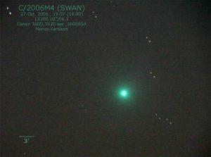 Εικόνα του M4 (SWAN) στις 27 Οκτωβρίου 2006, από τον Μάνο Καρδάση.