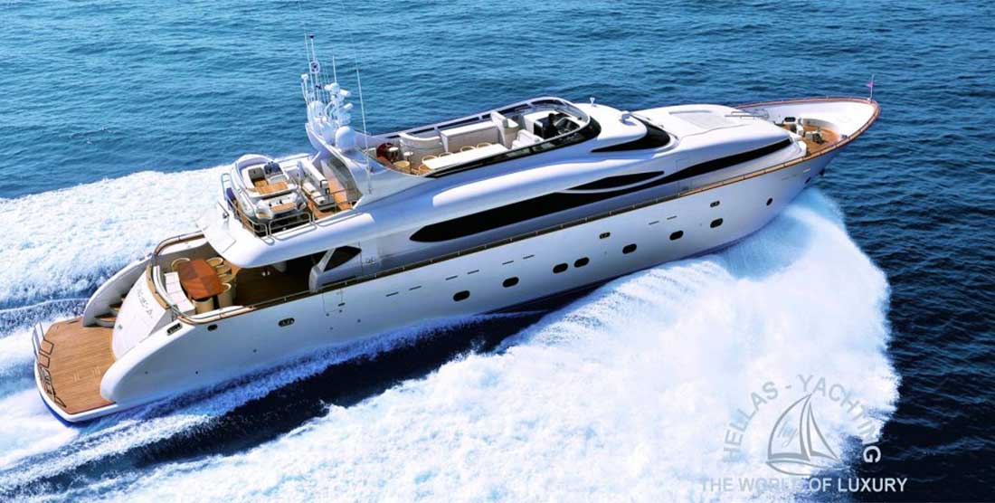 Luxury Motor Yacht PARIS A for private cruises in Greece - HELLAS YACHTING