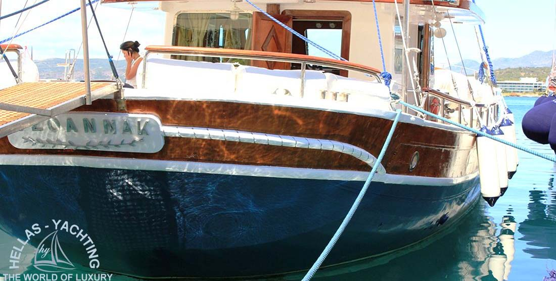 JOANNA K - Motor Sailer Charter Greece - HELLAS YACHTING