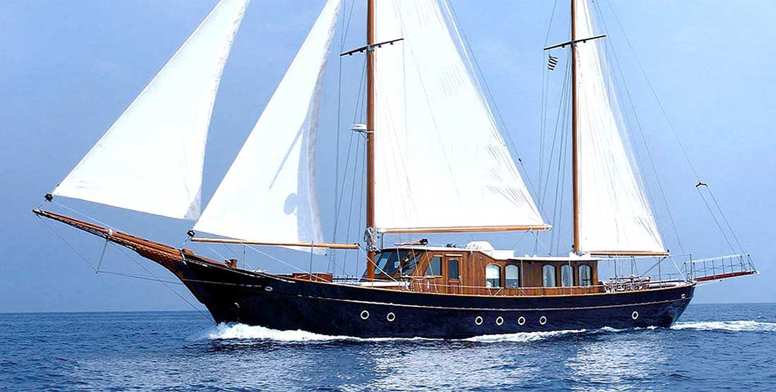 LIANA H - Charter Motor Sailer in Greece - HELLAS YACHTING
