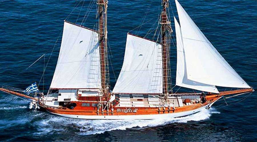 MATINA - Charter Motor Sailer in Greece - HELLAS YACHTING