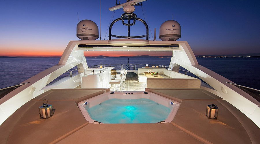 PATHOS- Charter Luxury Motor Yachts in Greece - HELLAS YACHTING