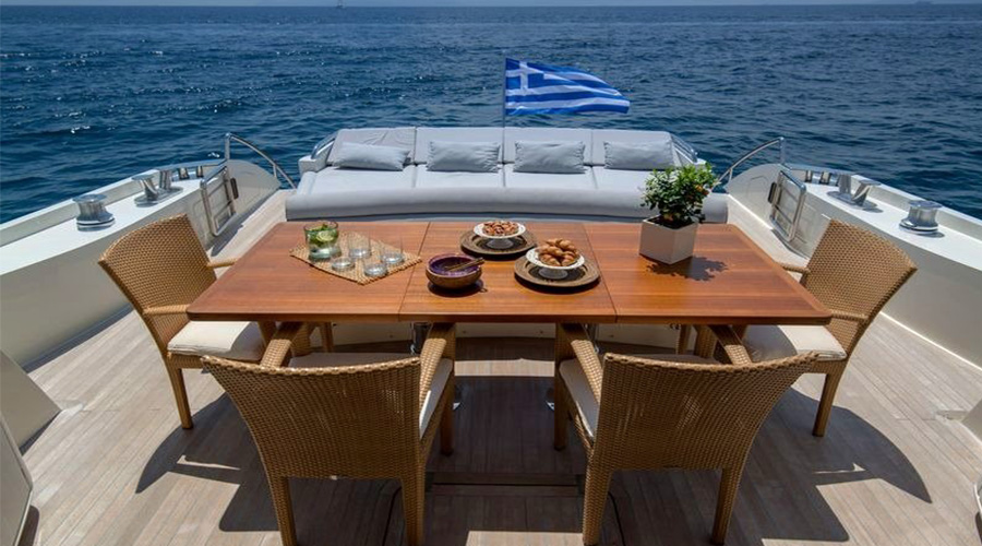 SUN ANEMOS - Charter Motor Yacht in Greece - HELLAS YACHTING