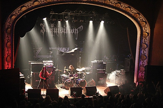 Inquisition opening for Behemoth, Toronto. Photo by Danielle Griscti.