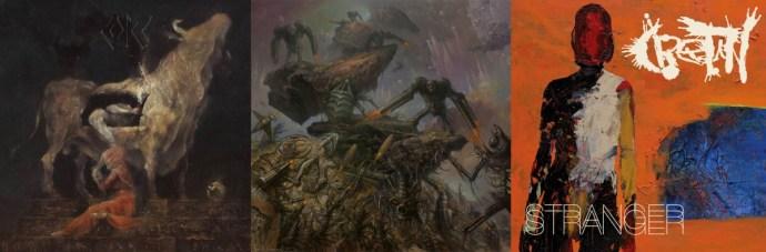Album cover art of Castle, Artificial Brain and Cretin