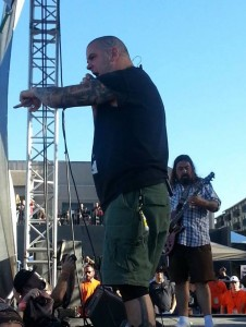 Phil Anselmo with Superjoint at Housecore 2014. Photo by Jay Gorania.