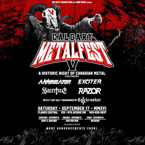 Calgary Metalfest 2016 poster
