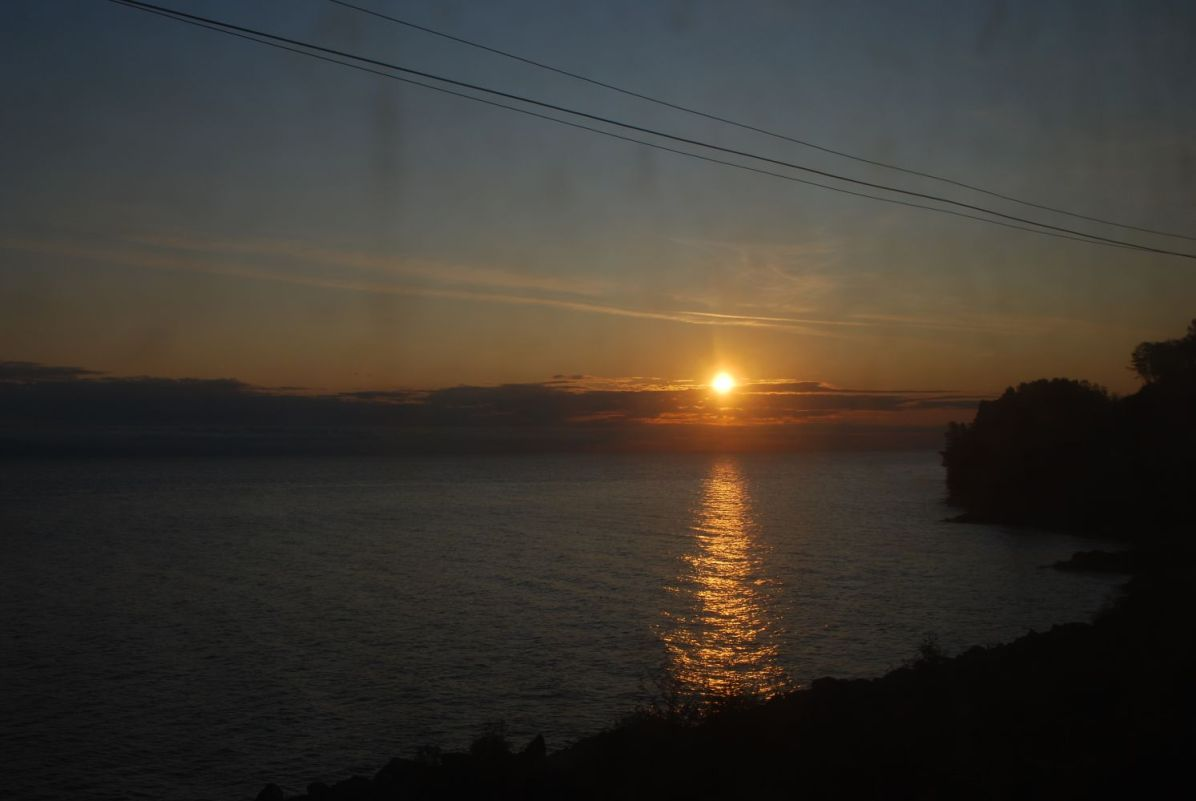 Baikal seen from the train...