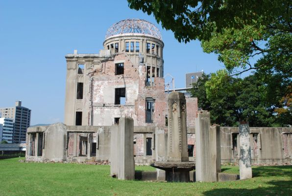 The A-bomb dome in Hiroshima.