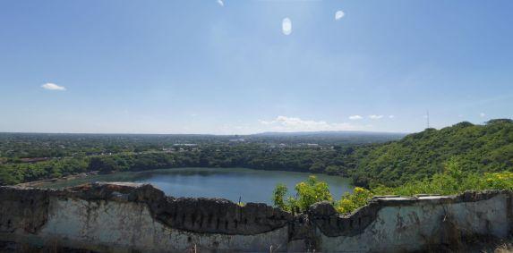A view of Laguna de Tiscapa, an old crater lake, from Loma de Tiscapa